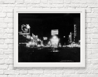 Times Square at Night - New York City - New York City Photograph - Vintage New York - Steampunk Photograph - NYC - Old Times Square -