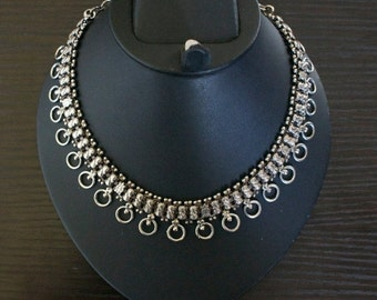 ON SALE Mesmerizing SILVER Necklace