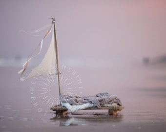 Photography Digital Backdrop, Boat, Raft, Newborn Composite Digital Prop, High Resolution, Beach