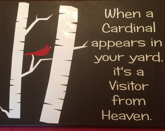 Visitor From Heaven-Cardinal Sign