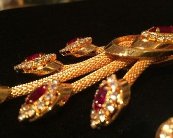 Vintage Brooch & Earrings Set