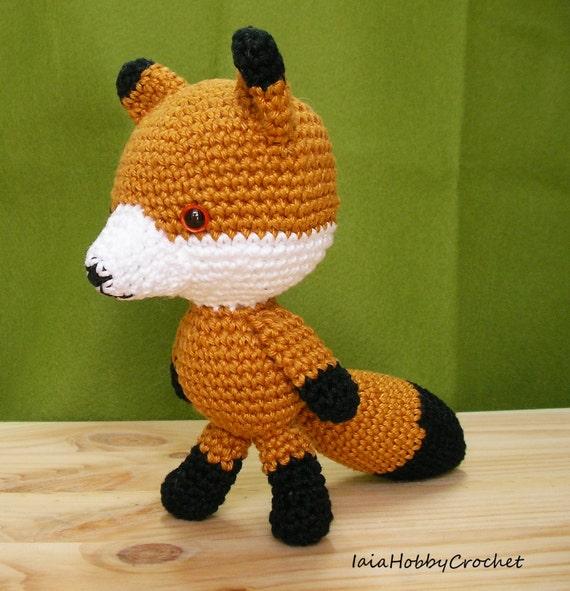 Amigurumi Forest Animals : Amigurumi Fox Amigurumi forest animal Crochet by ...