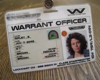 Alien Movie - USCSS Nostromo Ripley  I.D. Badge- B3G1F