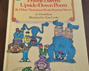 SALE 80s Vintage Prairie Dawn's Upside Down Poem and Other Nonsense from Sesame Street / Kids Book/Children's Book / Christmas in July / CIJ