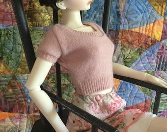 SD dusty rose crop sweater