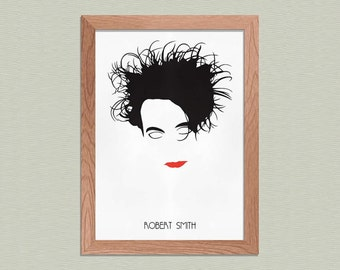 Robert Smith - The Cure Poster - Minimalist Art Print - Music Art