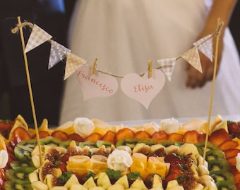 Custom Cake Topper Shabby Chic