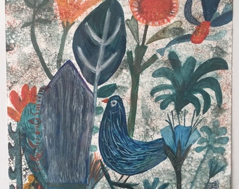 Song bird grey
