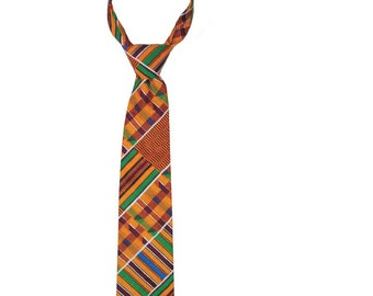 Hand made Kente Tie with Handkerchief