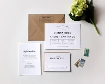 Modern Wedding Invitations, mid century Modern Wedding, Modern Wedding Theme, Minimalistic Design, Simple Wedding Invitation, Black, white