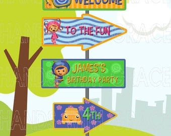 "Printable custom signage for party ""Team Umizoomi"""