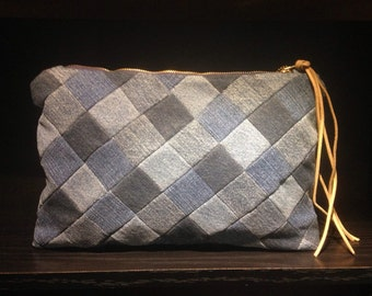 Recycled Denim Clutch/Purse