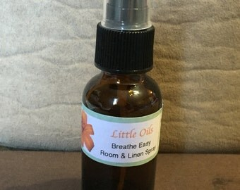 Breathe Easy Natural Room and Linen Spray - Sleepy Time Sinus and Congestion - Calming Room Spray - Essential Oil Blend