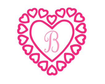 Valentines Day Heart Letter Decal