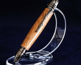 The Civil War Pen in 150 Year Old Spalted Oak and Gun Metal