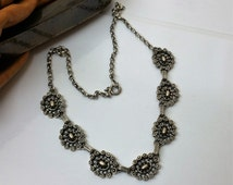 925 Silver necklace costume jewellery/SK341