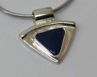 Pendant 925 Silver lapis lazuli vintage noble SK745