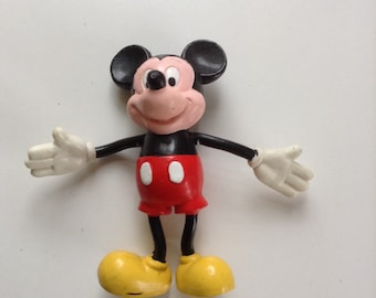 Mickey Mouse Rubber Figure -5cm