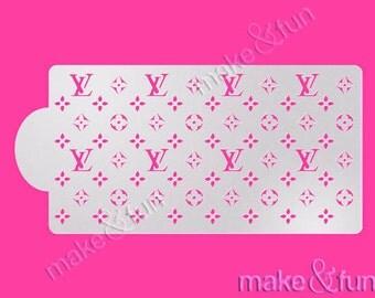 LV Cake Stencil, Cookie Stencil, Custom Stencil, Tortenschablone (Product Code VK01)
