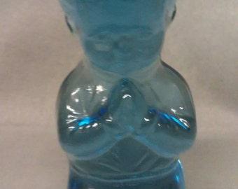 Tiara Glass Blue Boy Paperweight