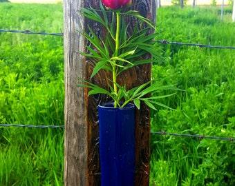 Cobalt Hanging Flower Vase