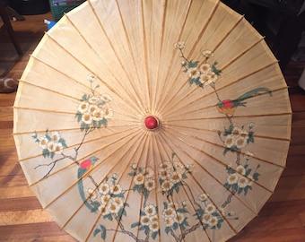 Antique Rice Paper Parasol