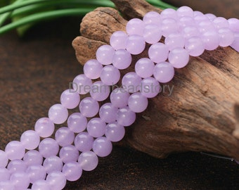 Lavender Color Soft Purple Semi Precious Stone 4 6 8 10 12mm Beads (JY85)