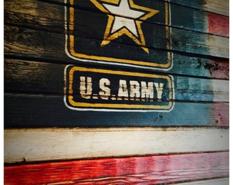 US Army, US Army Flag, Army Sign, American Flag, Military Flag, Wood American Flag, American Flag Sign, Weathered American Flag