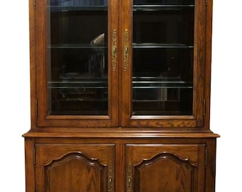 """CENTURY FURNITURE Chermont 54"""" Country French Lighted Display / China Cabinet"""