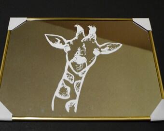 White Giraffe Mirror