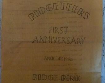 Vintage Ridgeteers Roller Club Program - April 4th 1940
