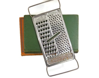 Vintage All in One Cheese Grater, Vintage Cheese Grater, Shabby Chic Decor, Farm Decor, Antique Metal, Antique Cheese Grater