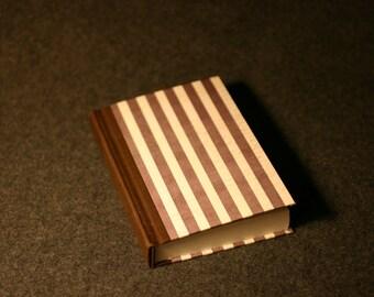4 x 6 Chocolate Striped Journal Notebook