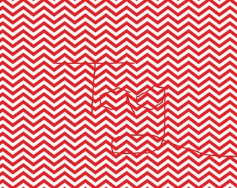 Red Chevron Instant Download