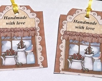 9 Handmade With Love Gift/Thank You Tags