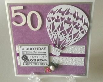 Hand made 50th birthday card