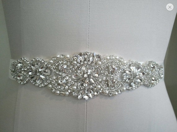 Beautiful bridal sash crystal bridal belt wedding dress for Wedding dress sashes with crystals