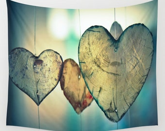 Wall Tapestry. Hearts Wall Tapestry. Love Tapestries. Photography Wall Tapestry