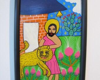 Mexican Folk Art - Daniel with Lion