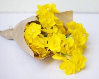 Yellow silk Jonquils home decor arrangement