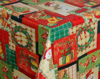 Oilcloth tablecloth fabric Christmas colorful 01186-00