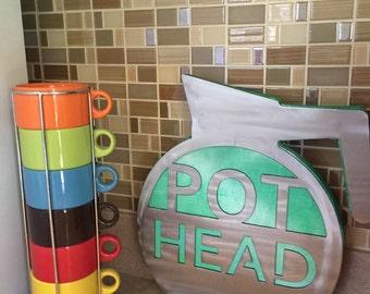 Coffee Sign- Pot Head