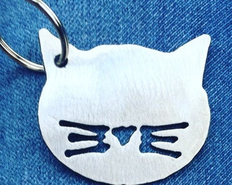 Cat Head Keychain