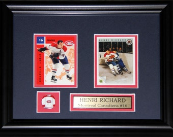 Henri Richard Montreal Canadiens 2 Card Frame