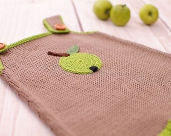 Baby dress knitting dress Apple