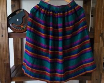 Vintage Romanian skirt, Romanian folk costume, women romanian costume, folk skirt , EU 36, bohemian skirt,