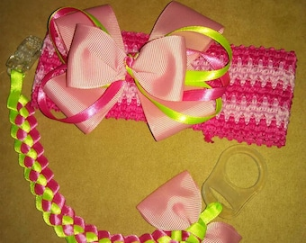 Pink and neon green collection.