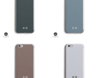 Men Monogram iPhone 6 plus case, Custom Initials iPhone 5 case, Personalized initial iPhone case, Initial Name iPhone, iPhone 6s case simple