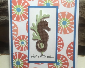 Brown Seahorse Just a little note...Card