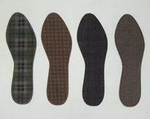 Washable Shoe Liners - Fall & Winter 2015 - 100% Absorbent Cotton Face - Stiff Poly Backing-Reinforced Stitching - Thin
